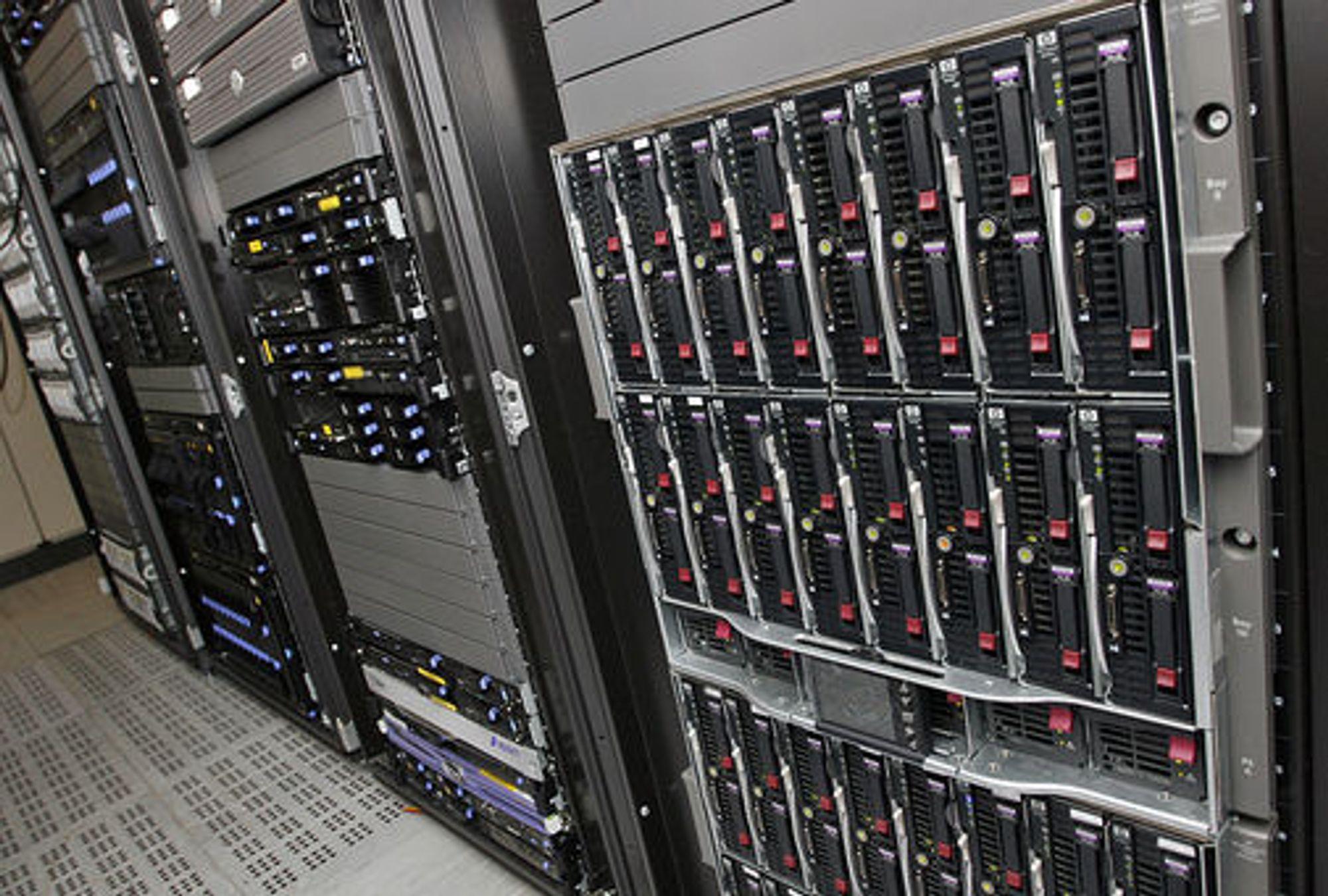 Bilde fra Opera Softwares serverrom i Oslo. Foto: Per Ervland