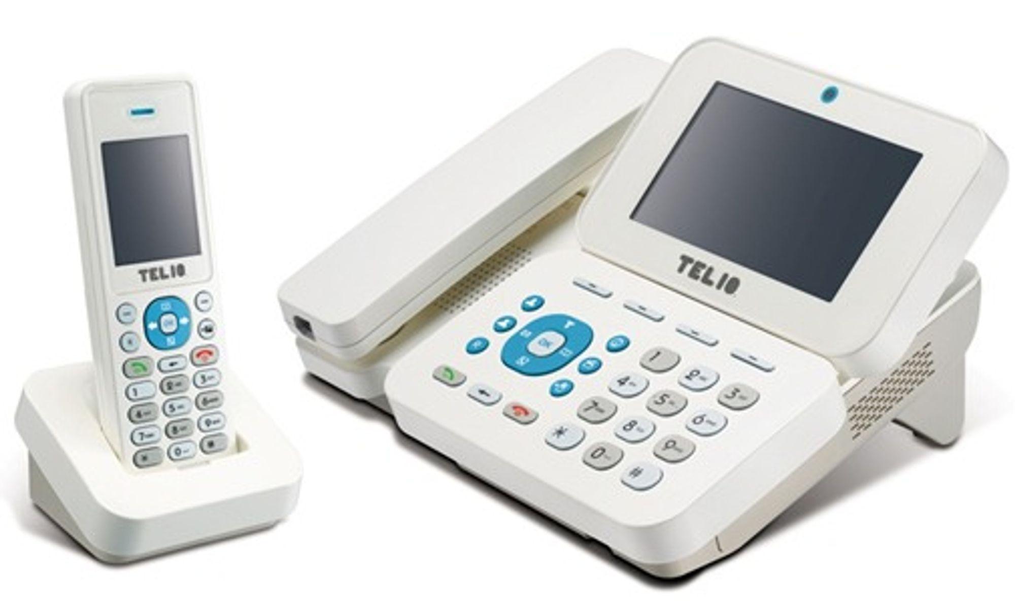 Telios videotelefon er samtidig en base for opptil tre trådløse DECT-apparater.