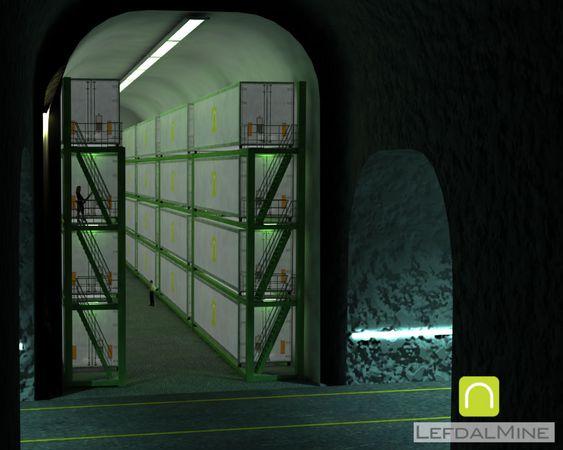 Gruvegangene vil kunne utnyttes i flere etasjer i hvert av de seks nivåene.