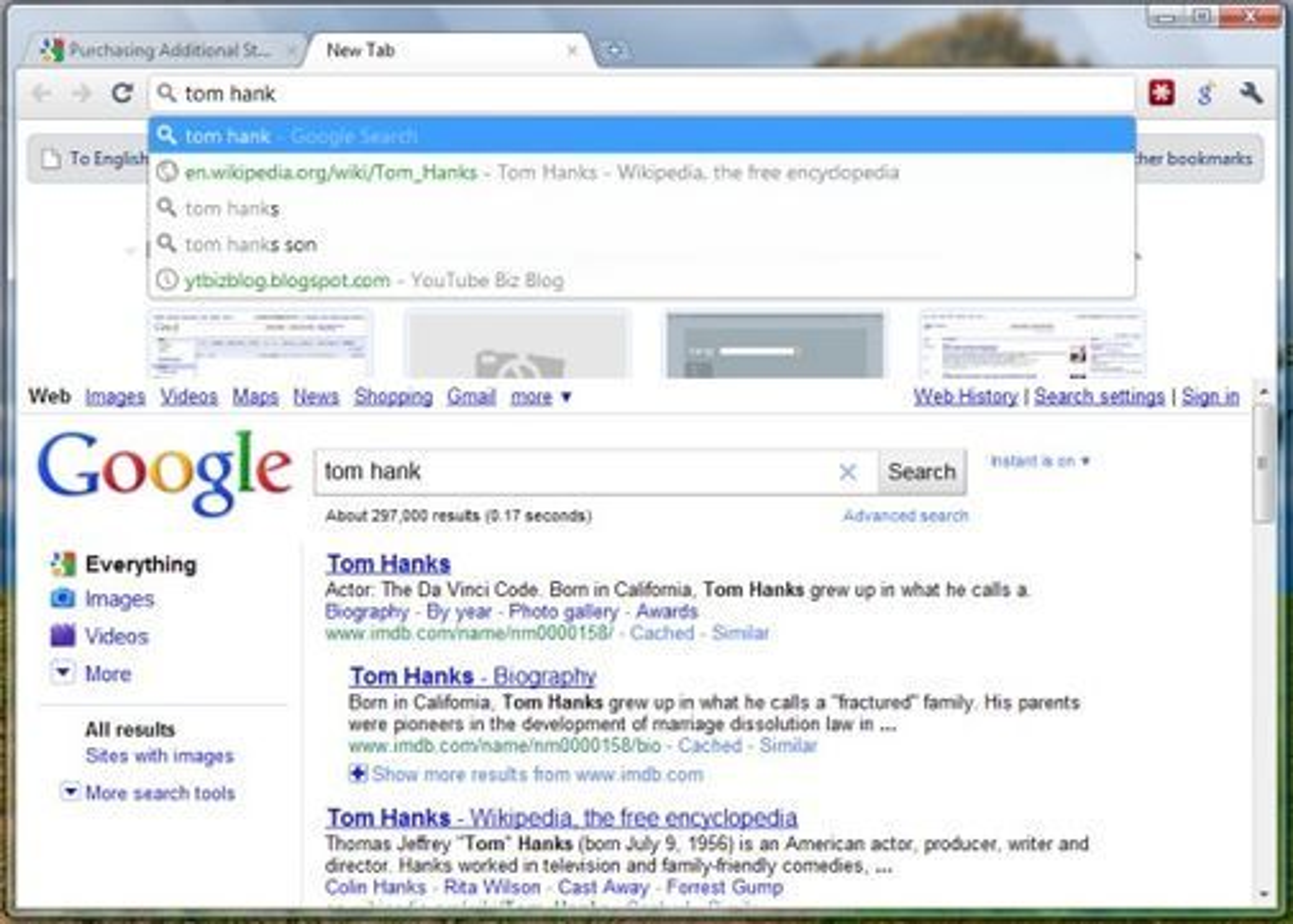 Google skal integrere selskapets nye Instant-søk med adresse- og søkefeltet i kommende Chrome 7.