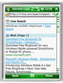 Dagens Internet Explorer for Windows Mobile.