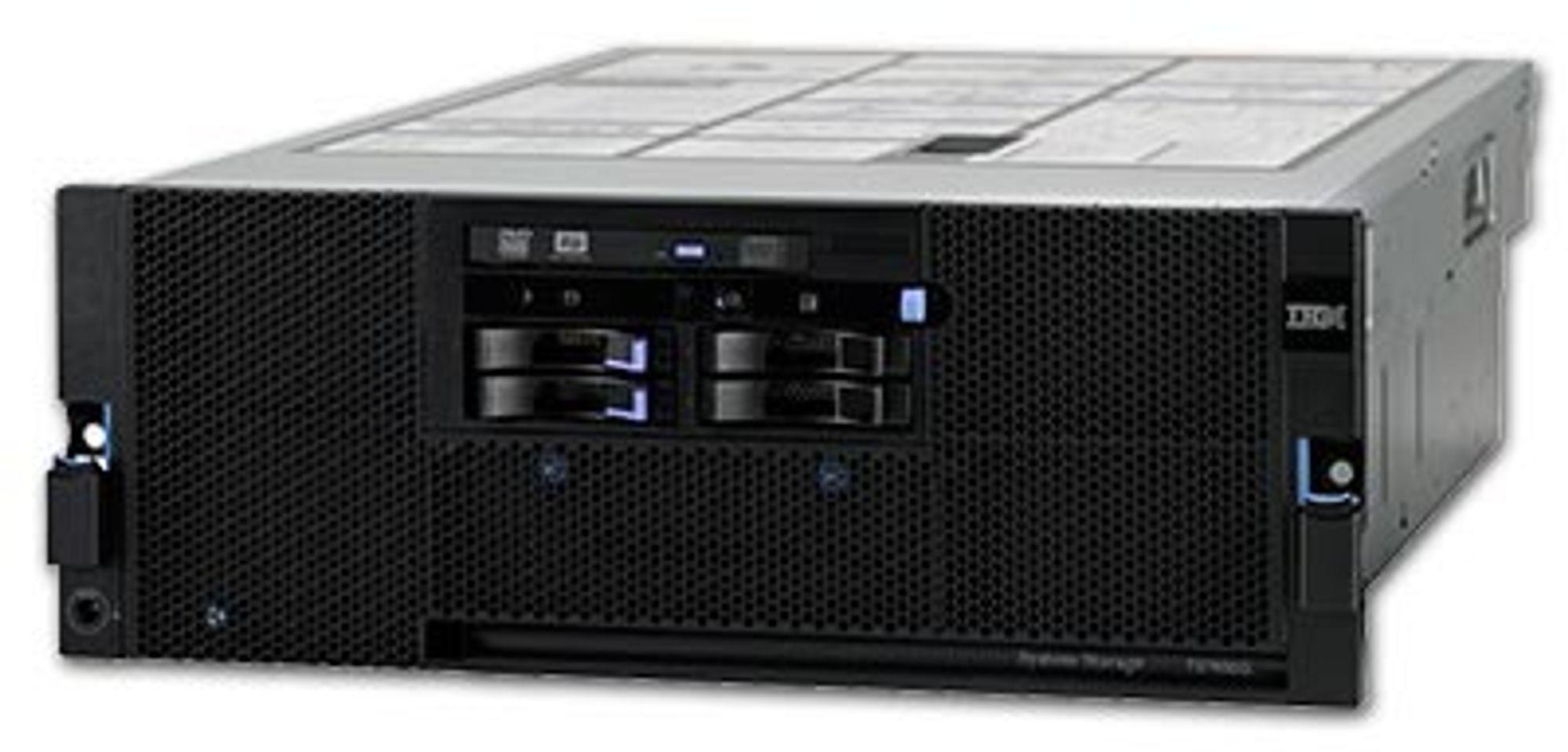 TS7650G ProtecTIER De-duplication Gateway dedupliserer under selve lagringen. Den kan betjene et fysisk lager på opptil 1 petabyte.