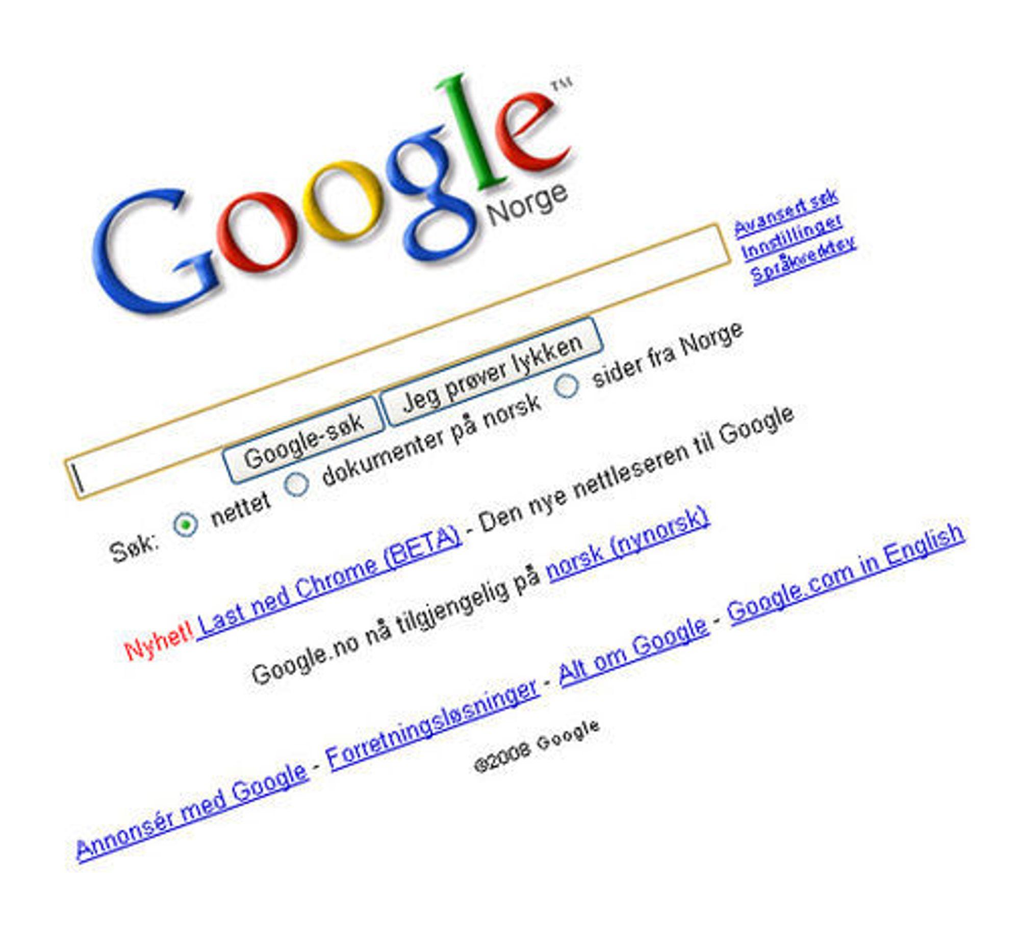 Å ha en nedlastingslenke på forsiden til Google gir Chrome god drahjelp.