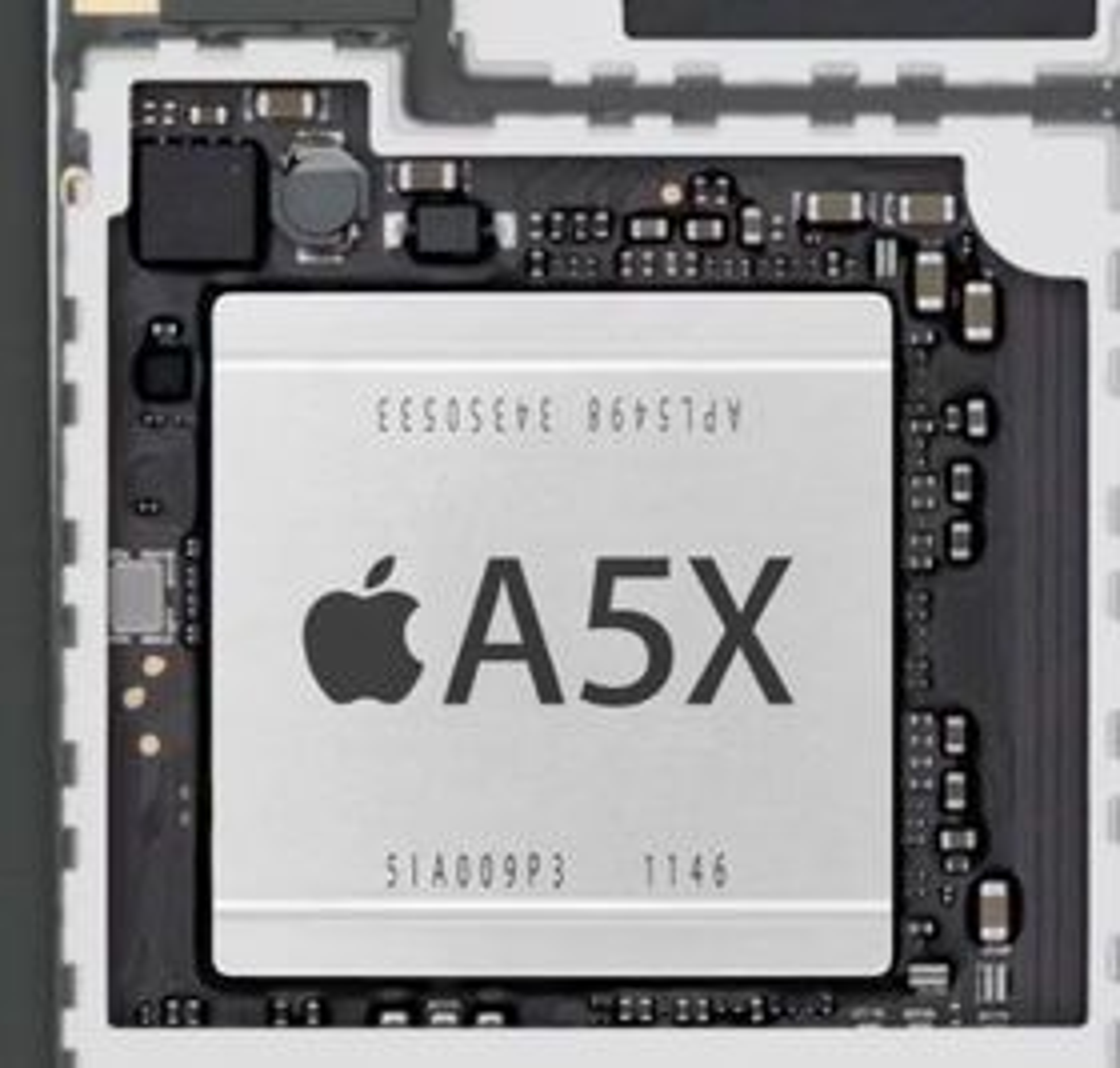 A5X-brikke i tredje generasjon av iPad.