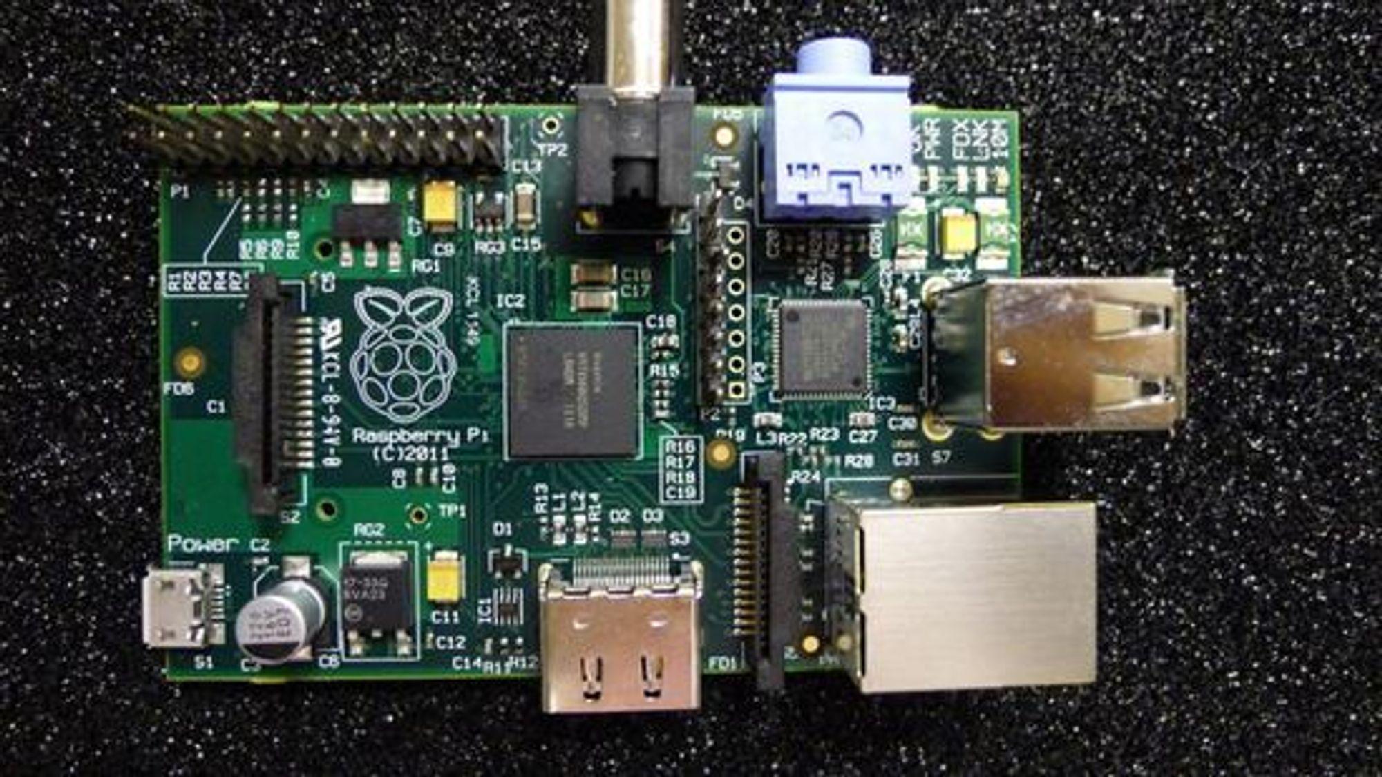 Betaversjon av Raspberry Pi Model B.