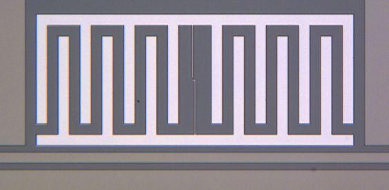 En todimensjonal qubit fra kretsen i det forrige bildet.