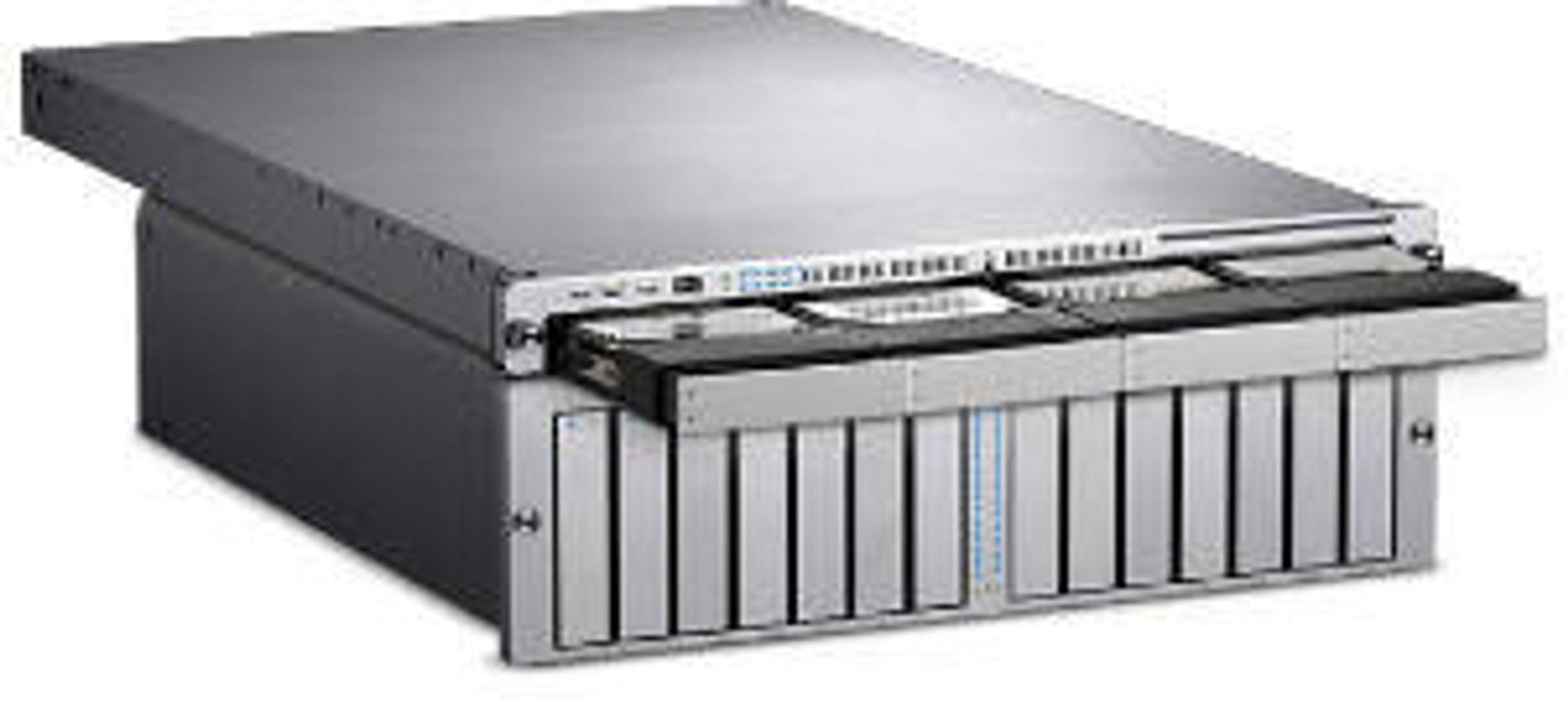 Rack-server og rackbasert RAID-system fra Apple