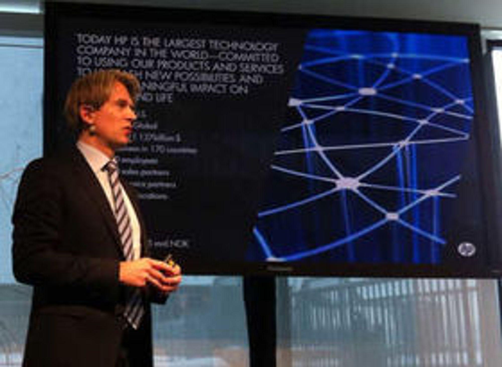 Avtroppende sjef for HP Norge, Eivind Roald, ble med på Greenfield Datacenter i fjor høst. HP skal bruke sin internasjonale kompetanse på utvikling av anlegget og selge det inn til sine kunder.
