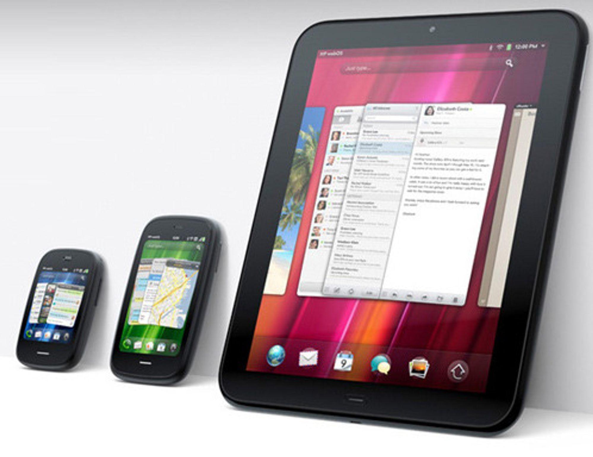 HPs nye WebOS-enheter: Veer, Pre3 og TouchPad.