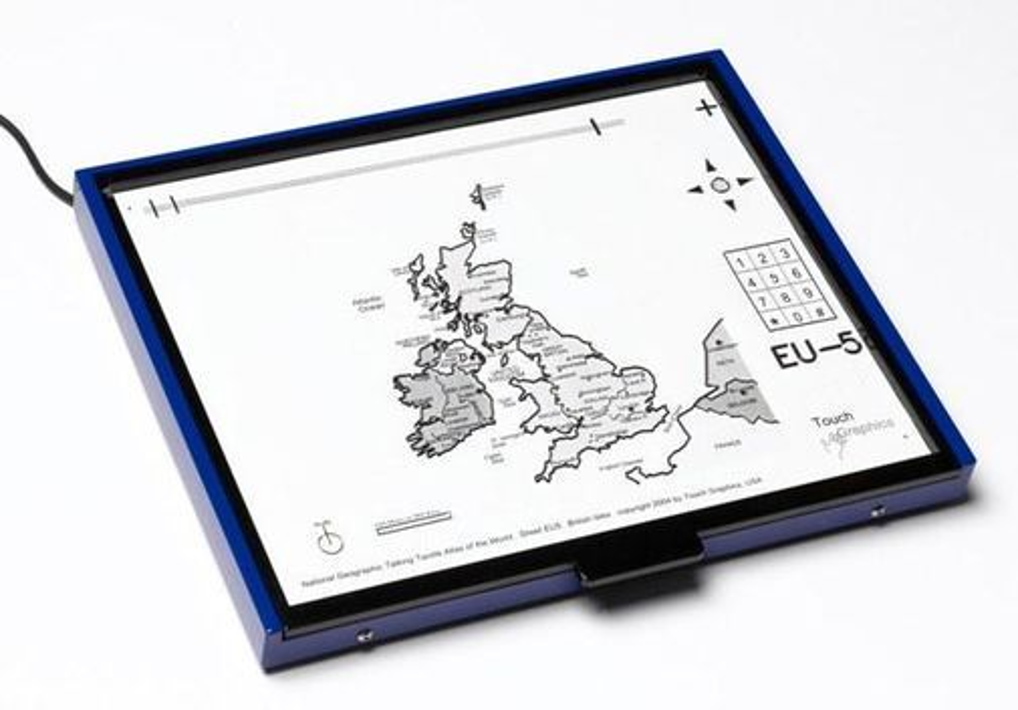 Talking Tactile Tablet gjør det mulig for synshemmede å oppleve kart.