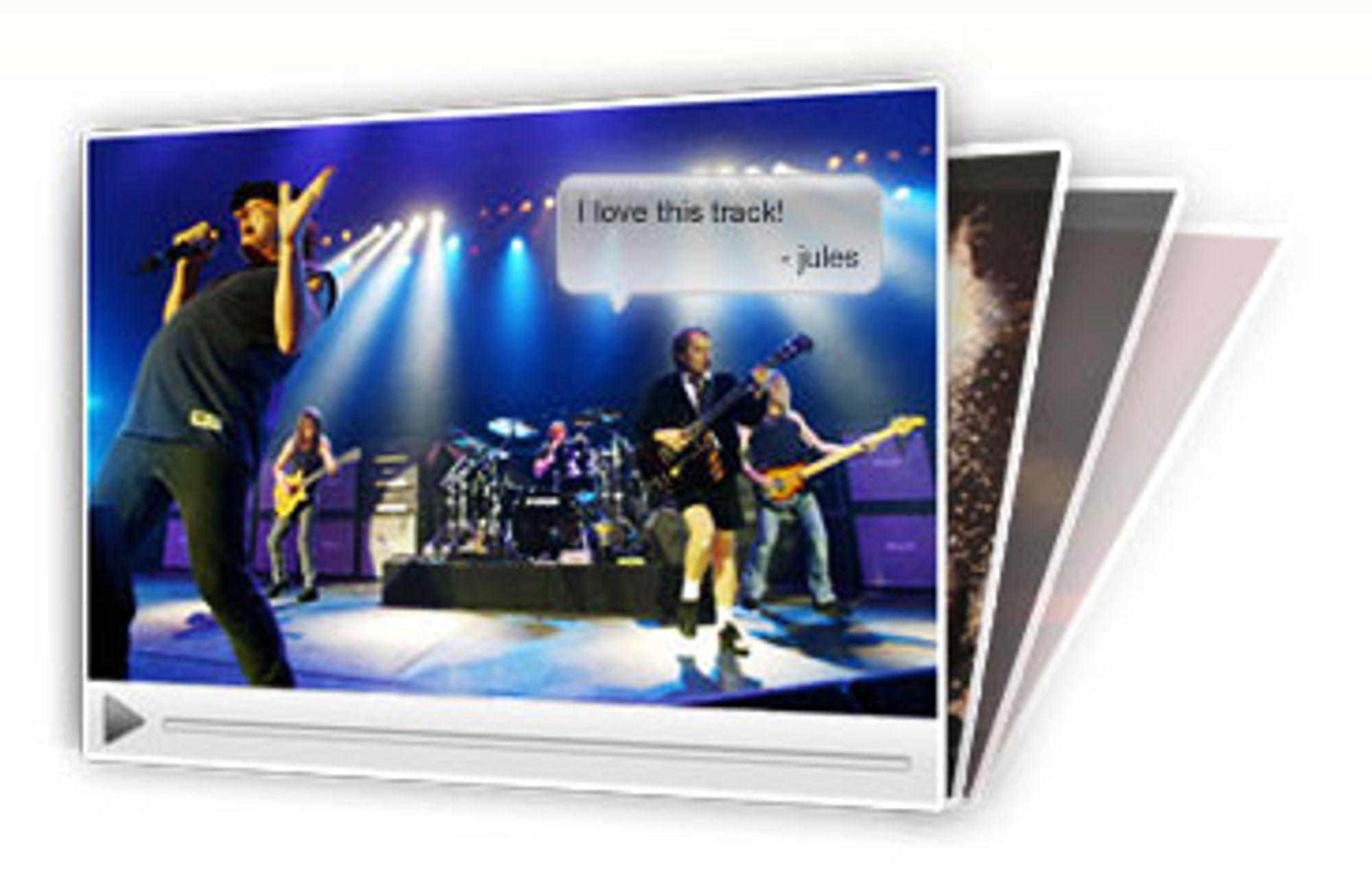 AC/DC: Eksempel på tagging av videosnutt, hentet fra Omnisios nettsider.