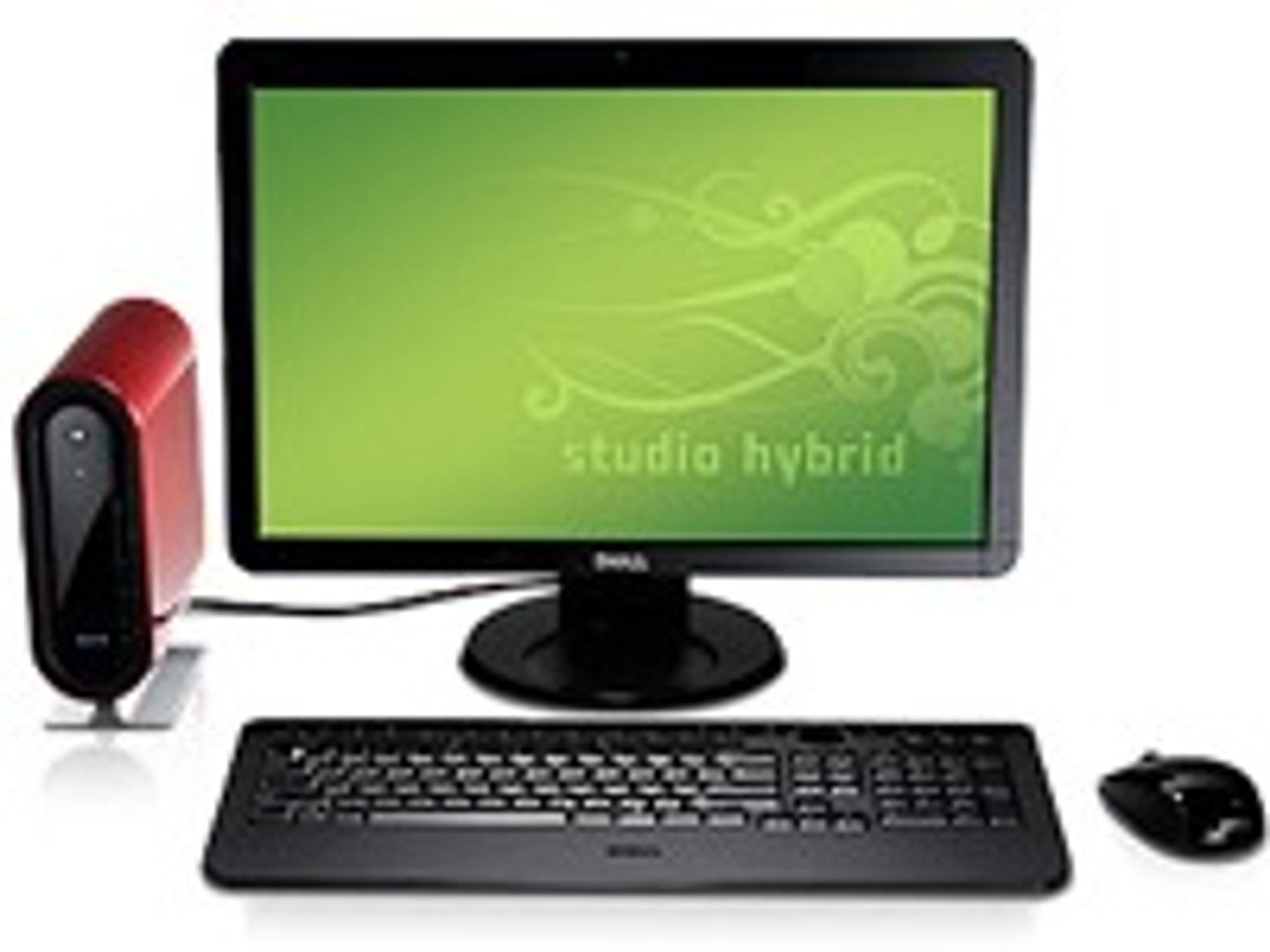 Dell Studio Hybrid med 19 tommers skjerm.