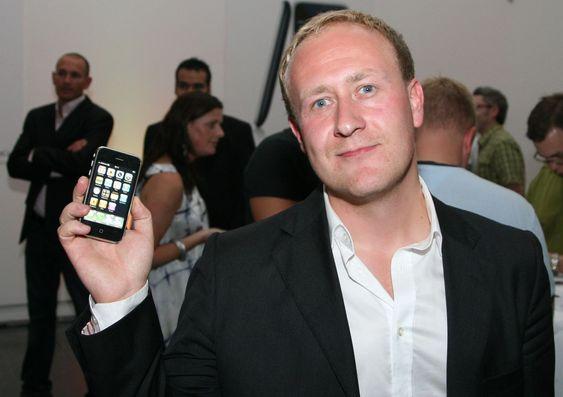 Netcoms kommunikasjonsdirektør Øyvind Vederhus hadde sikret seg en iPhone.