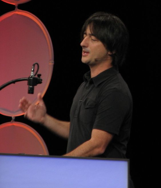 Joe Belfiore, Microsofts sjef for Windows Phone-plattformen, under MIX 2010.