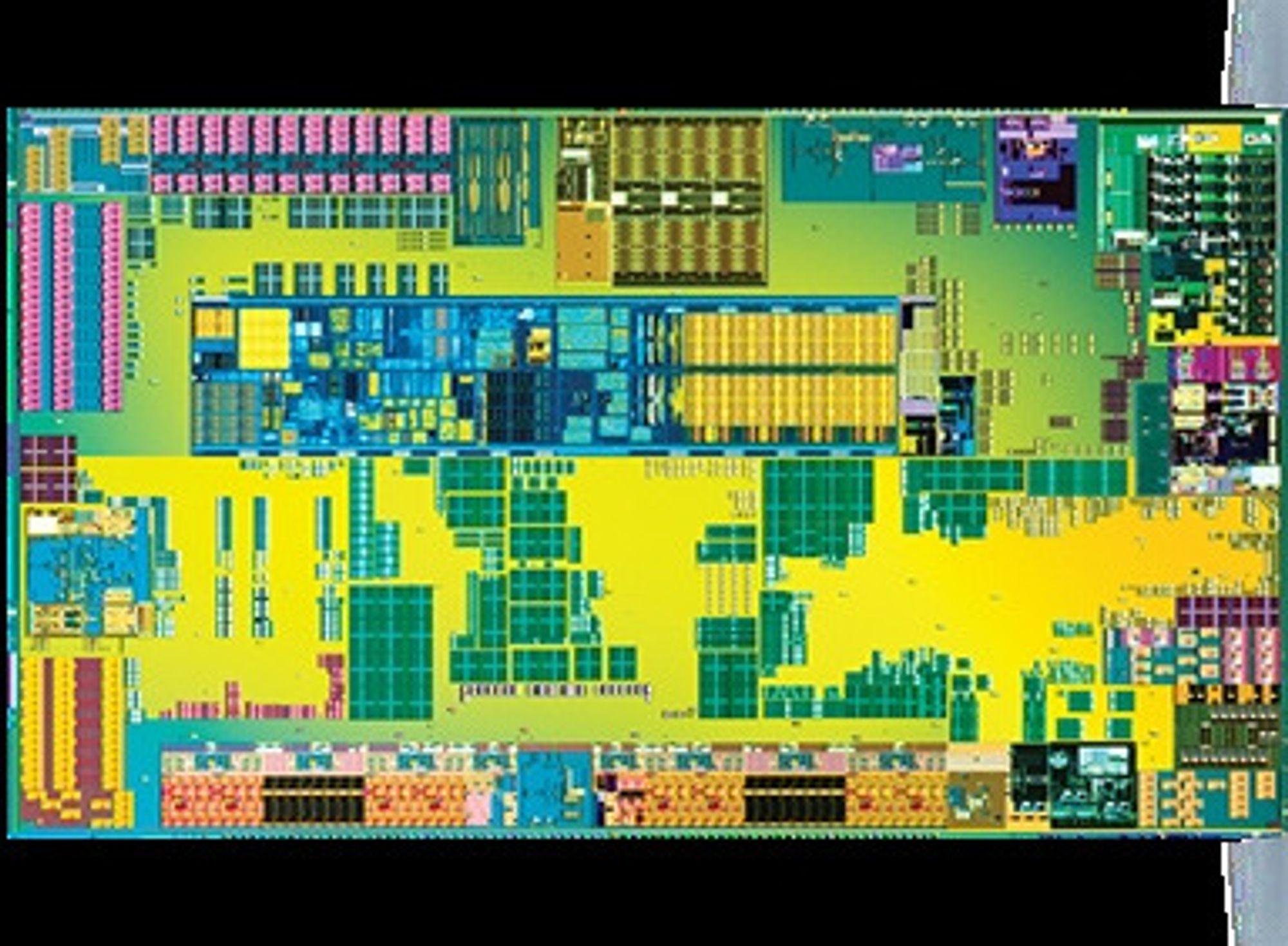Innmaten i Intel Atom Z670.