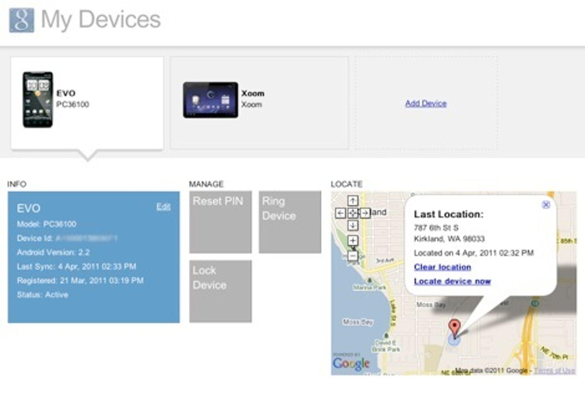 Google lar bedriftskunder finne igjen eller låse tapte Android-mobiler via nettleseren.