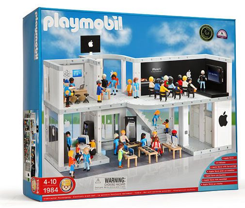 Apple Store Playset fra Playmobil.