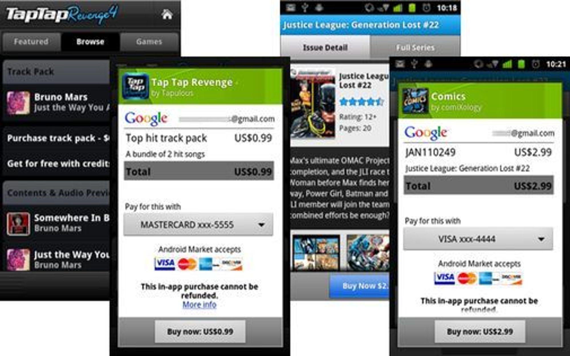 Nå kan utviklere av Android-applikasjoner ta i bruk en fast tjeneste for betaling av blant annet virtuelle varer og tjenester fra innsiden av applikasjonene.