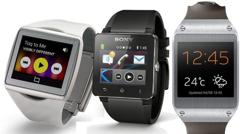 QualComm Toq, Sony SmartWatch 2 og Samsung Galaxy Gear kommer alle i salg denne høsten.
