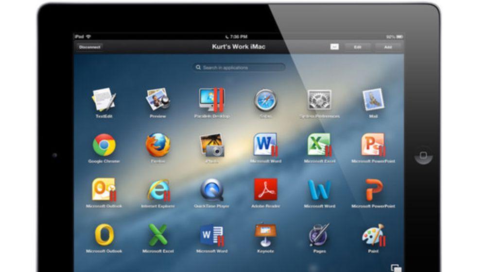 Parallels nye programvare, Access, lover å gi iPad-brukerne tilgang til sine PC eller Mac-programmer direkte på nettbrettet.
