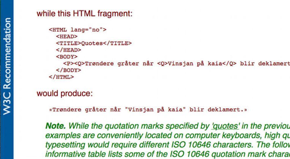 CSS eller stilsett fylte 20 år i forrige uke. Visste du at det ligger en pussig referanse til trønderrock på norsk i selve standarden?