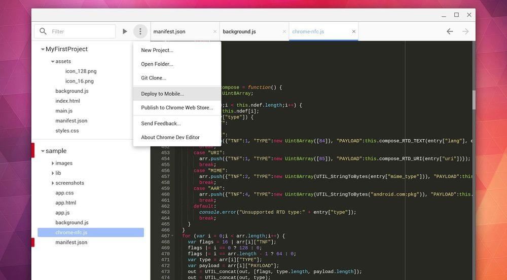 Chrome Dev Editor åpner gjør det mulig å lage Chrome-applikasjoner uten noen annen enhet enn en Chromebook.
