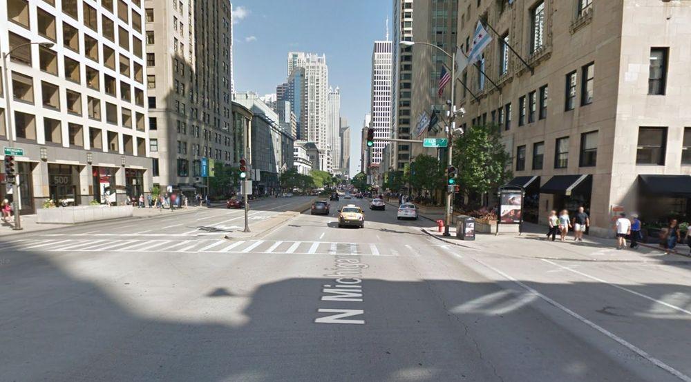 I GATELYKTENE: Datainnsamlingen skal først foregå langs hovedgaten Michigan Avenue.