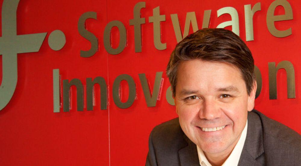 Torstein Harildstad (bildet) og Software Innovation blir nå en del av det finske IT-konsernet Tieto. Det er andre gang på ett år at selskapet er solgt.