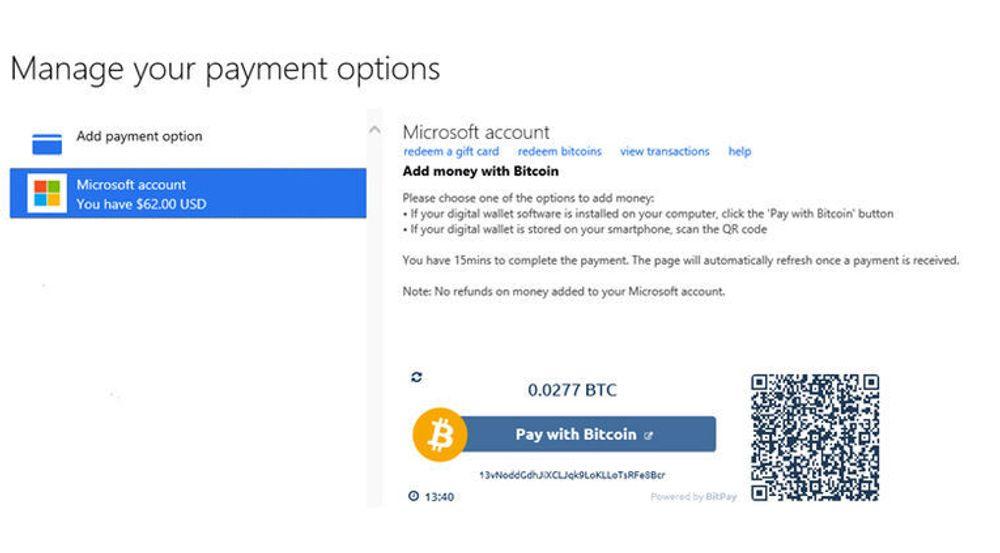 Microsoft har begynt å ta i godta bitcoin som betaling.