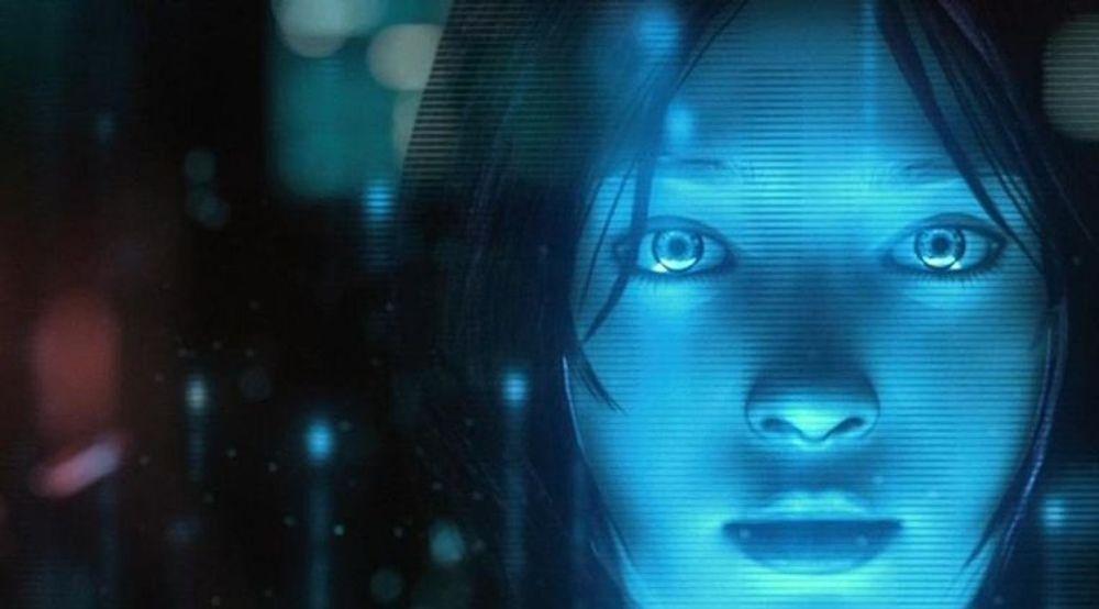 Den «virkelige» Cortana, slik hun fremstår i Halo-spillene.