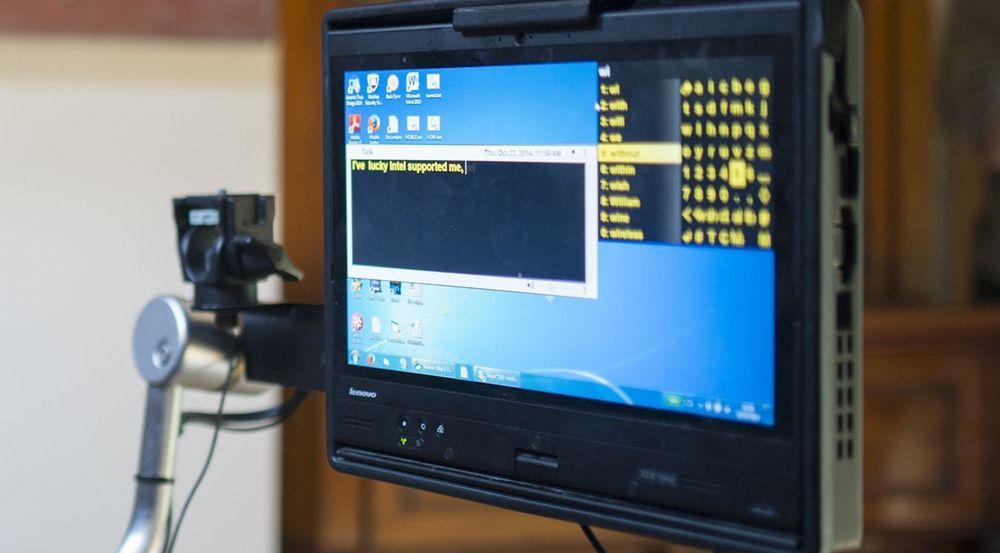 Det nye kommunikasjonssystemet fra Intel og SwiftKey som Stephen Hawking har tatt i bruk.