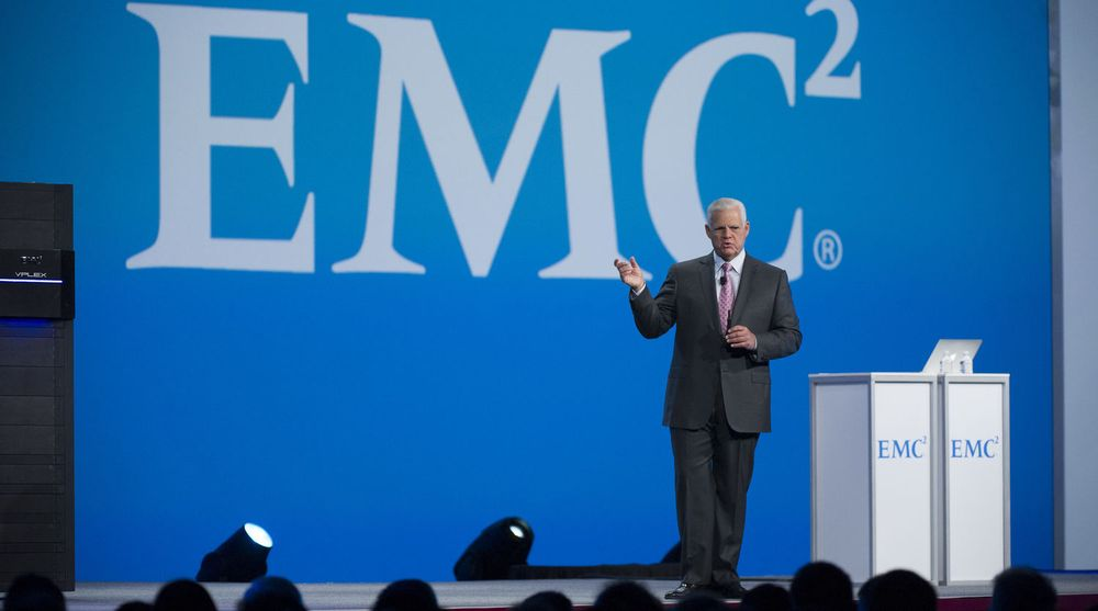 EMC-sjef Joe Tucci setter av opptil 120 mnr dl til omstrukturering.