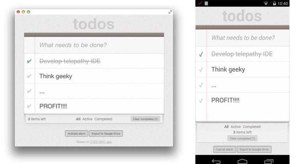 Ved hjelp av Apache Cordova og en samling andre verktøy skal applikasjoner laget for Chrome Web Store relativt enkelt kunne gjøres om til mobil- og nettbrettapplikasjoner.