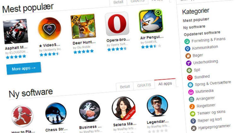 Opera Mobile Store tilbyr 200 000 apper for Java, Android,iOS, Symbian og Blackberry.