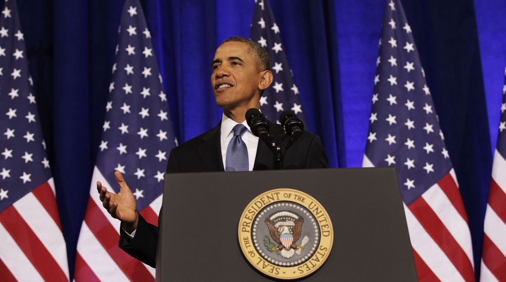 USAs president Barack Obama forsvarte USA og NSAs signaletterretning mot egne og utenlandske borgere i en tale i USAs justisdepartement sist fredag.