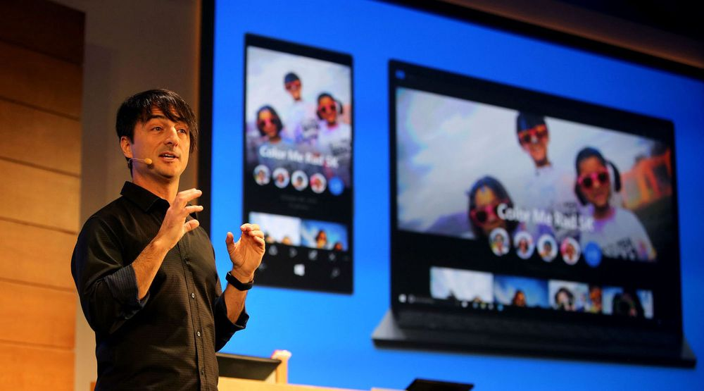 Joe Belfiore viser universielle applikasjoner på Windows 10.