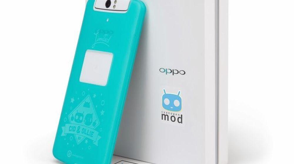 Oppo N1 med CyanogenMod. Standardutgaven av telefonen leveres med Color OS, en variant av Android som Oppo har satt sammen selv.