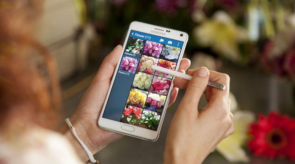 Med 5,7 tommer er Samsung Galaxy Note 4, som ble lansert i går, fortsatt innenfor det IDC definerer som phablets.