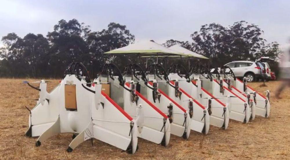 Her tester Google dronene i Australia.