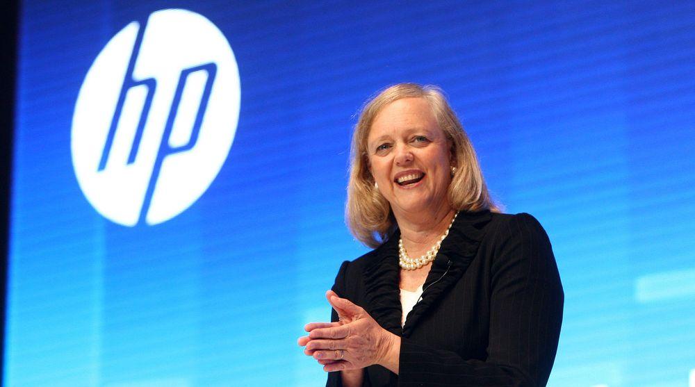 HP-sejf Meg Whitman har fått større grunn til å smile etter fremleggelsen av nye kvartalstall.