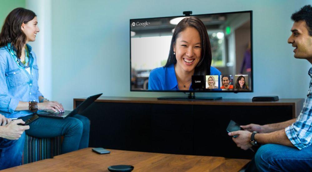 Webbaserte videokonferanser er allerede tilgjengelig. Illustrasjonen viser Google Hangouts, som ennå ikke greier seg med standard webteknologi alene.