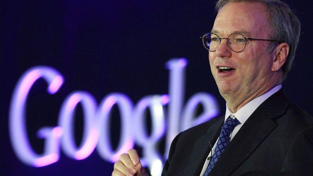Googles styreformann Eric Schmidt fra lanseringen av nettbrettet Nexus 7 ifjor høst.