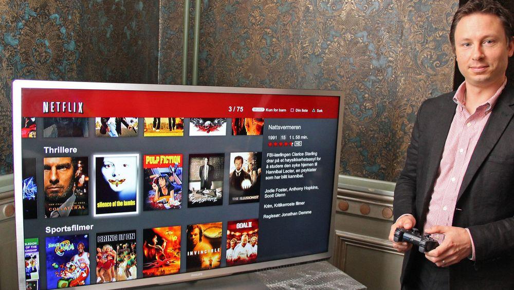 VOKSER STORT: Netflix blir av NRK omtalt som tidenes mest suksessfylte lansering i norsk mediehistorie. Her blir den amerikanske strømmetjenesten demonstrert av kommunikasjonsdirektør i Netflix Joris Evers på norgesbesøk i våres.