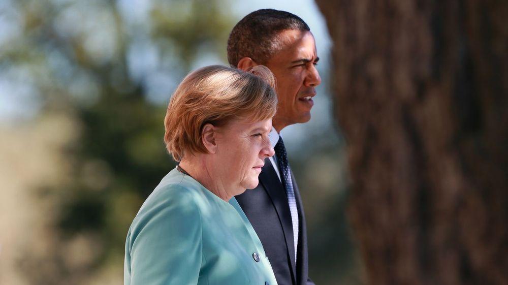 Angela Merkel og Barack Obama (i St. Petersburg tidlig i september i år): Hva betyr litt kyberspionasje blant gode venner?