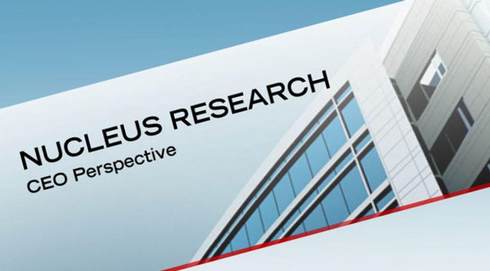 Nucleus Research er spesialisert på kostnytteanalyser.