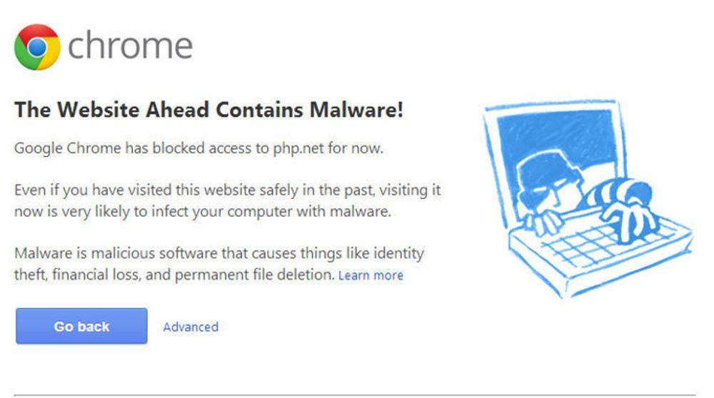 Noen kan ha lagt endret en fil på PHP.net slik at nettstedet har spredt skadevare.