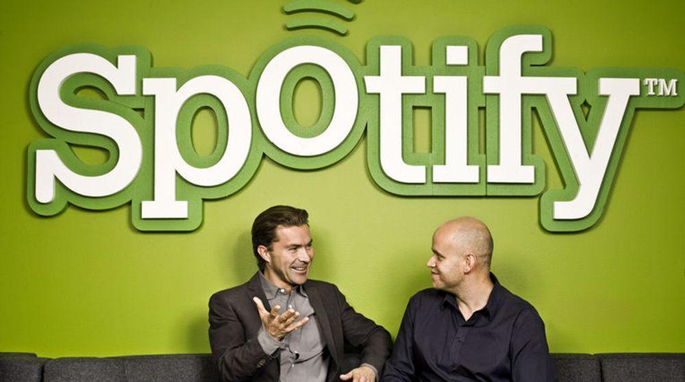 De to gründerne i Spotify, svenske Daniel Ek og Martin Lorentzon, kan være på vei mot en børsnotering i USA i løpet av neste år.