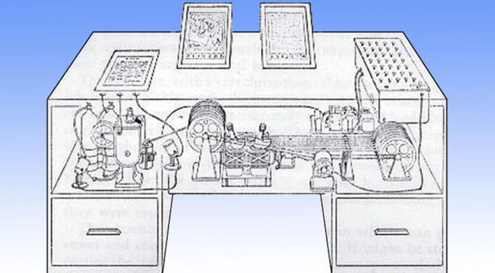 Det opprinnelige konseptet av Memex, fra 1945, bygget på analog teknologi, blant annet mikrofilm.