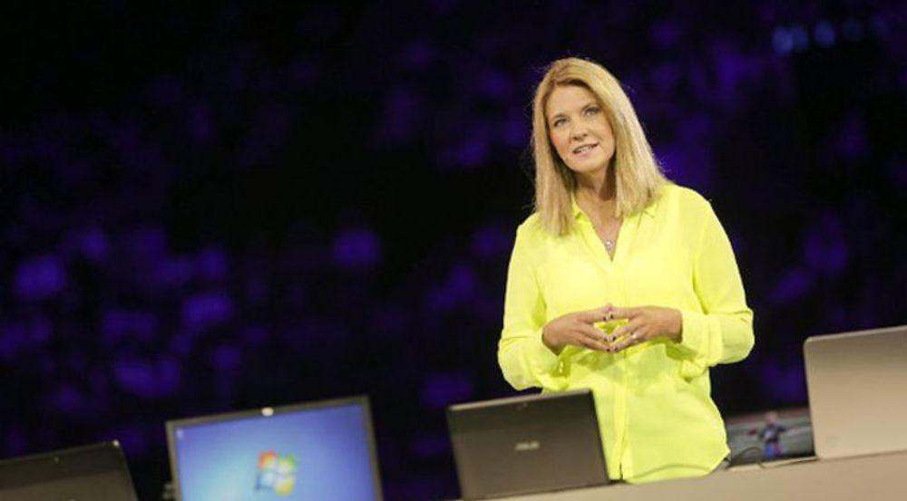 Det var markedsdirektør Tami Reller i Microsoft som i går presenterte de nye salgstallene for Windows 8. Her er hun avbildet i 2012.