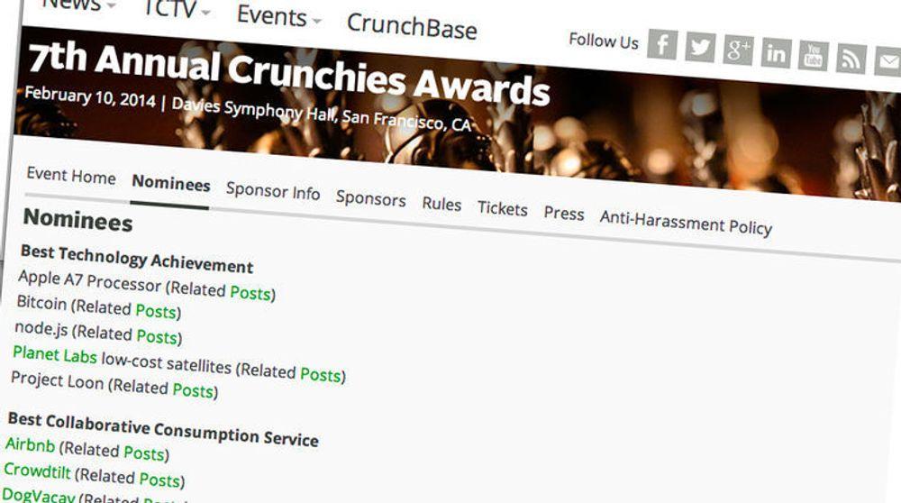 For 7. gang ble Crunchies-utdelingen avholdt i San Francisco.